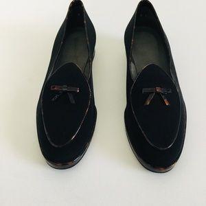 Stuart Weitzman Black Creampuff Loafers